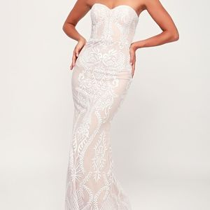 NEW! YOU BELONG WITH ME LACE STRAPLESS MAXI DRESS